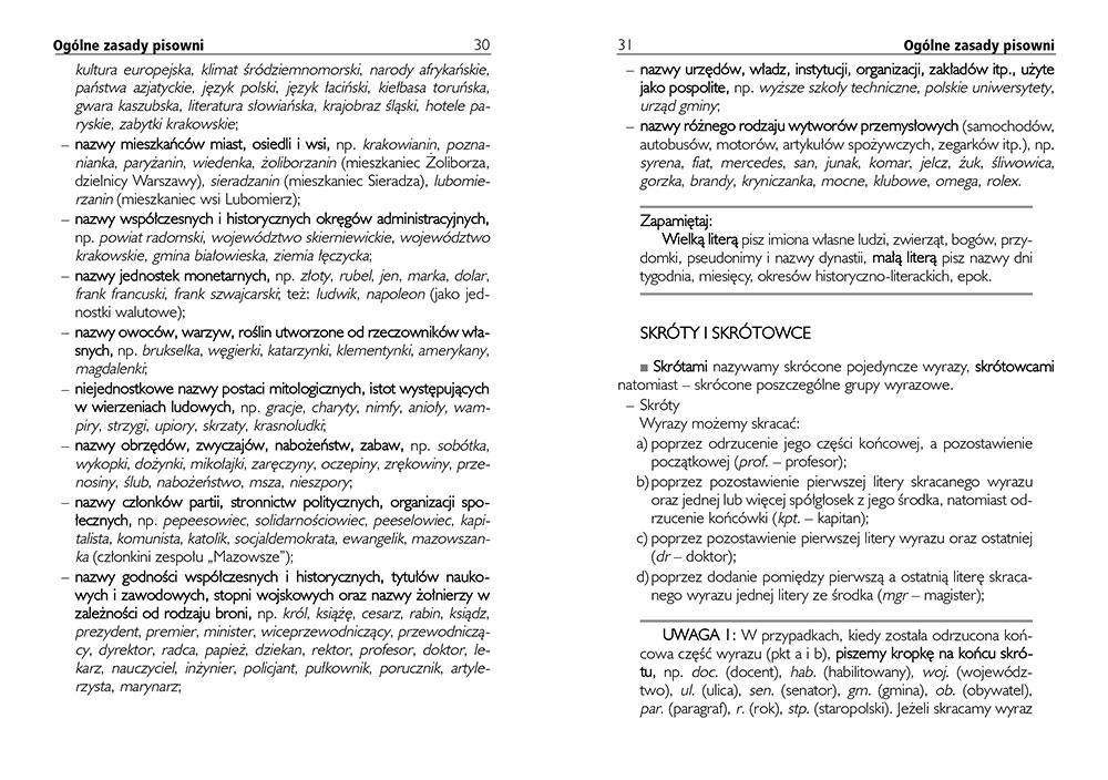 Słownik ortograficzny kieszonkowy