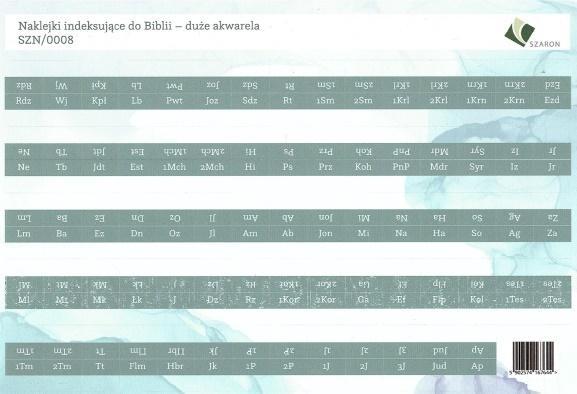 Naklejki indeksujące do Biblii - duże akwarela