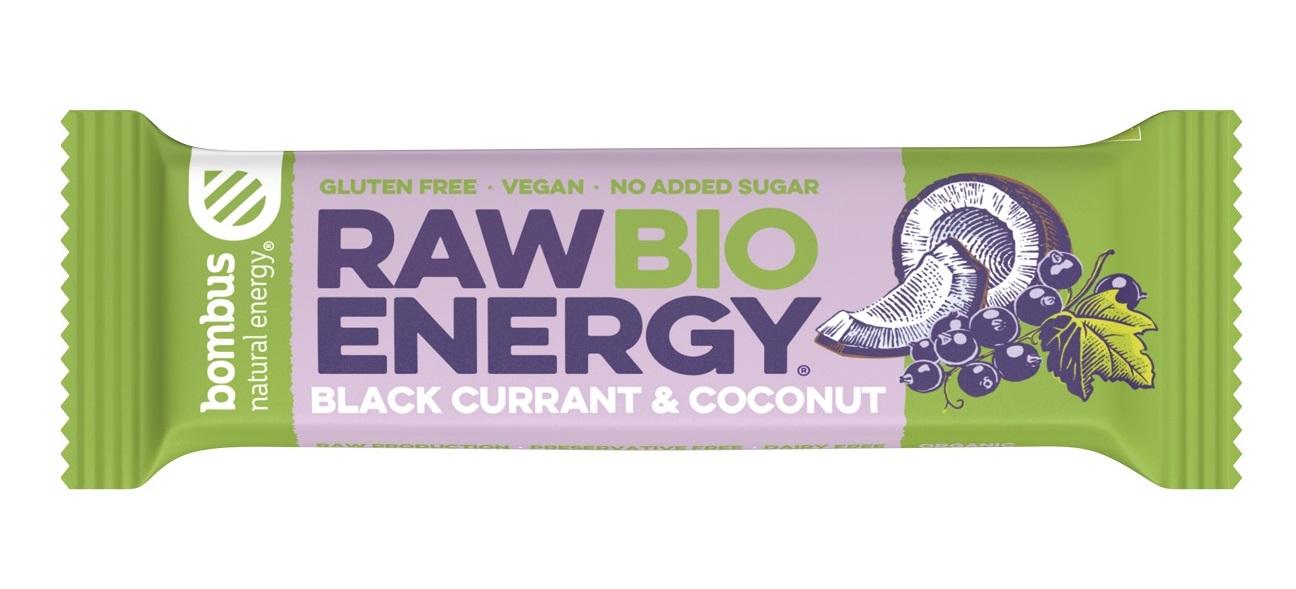Baton Raw Energy czarna porzeczka-kokos bezglutenowy