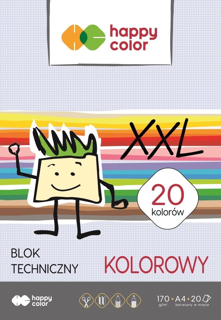 Blok techniczny A4 kolorowy