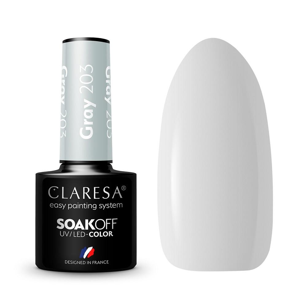 CLARESA_Soak Off UV/LED Gray lakier hybrydowy 203