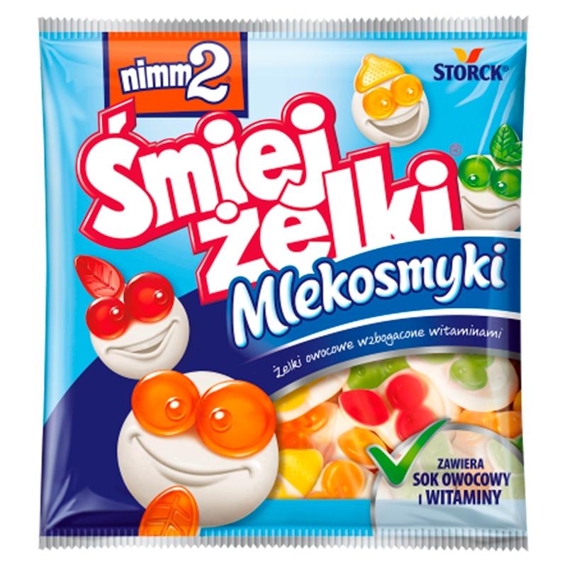 Śmiejżelki Mlekosmyki Żelki owocowe wzbogacone witaminami