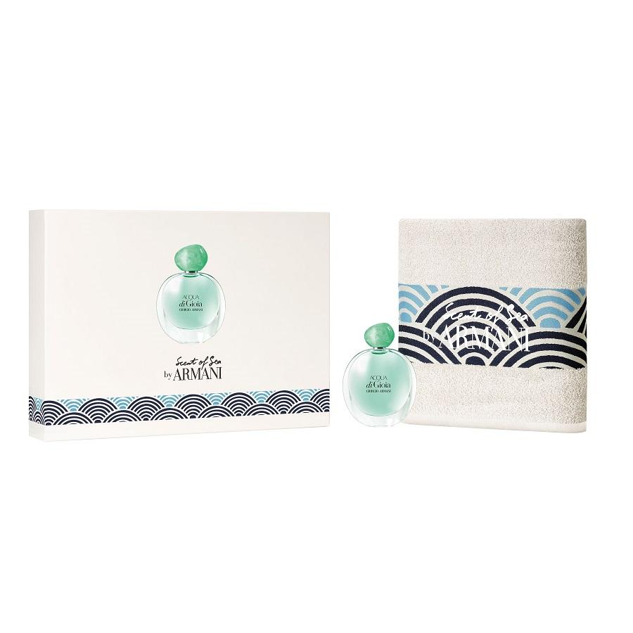 Zestaw dla kobiet Woda perfumowana Acqua di Gioia + Ręcznik