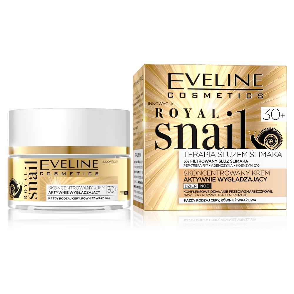 Royal Snail 30+ terapia śluzem ślimaka skoncentrowany krem aktywnie wygładzający na dzień i na noc