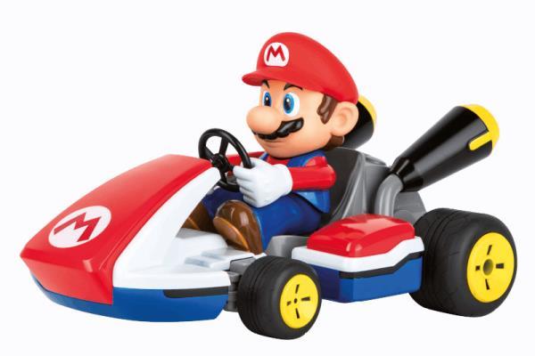 PROMO Pojazd / Auto na radio Wyścigówka Mario Kart RACE KART z dźwiękiem 162107 Carrera