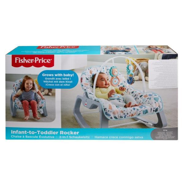 Fisher-Price Baby Gear Fotelik-Bujaczek pastelowy GNP99 MATTEL