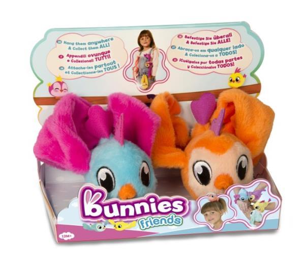 Bunnies Friends Pluszowy ptaszek z magnesem 2-pak 097223  97810,97827,97834,97841