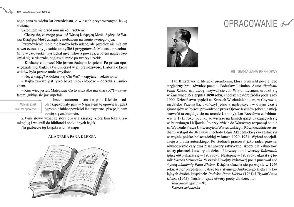 Akademia Pana Kleksa lektura z opracowaniem
