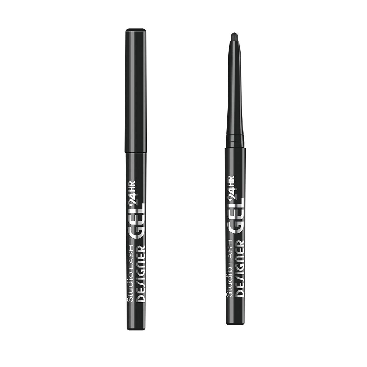 Studio Lash Designer Gel Long Lasting Gel Eye Liner żelowy eyeliner do powiek 001 Black Designer