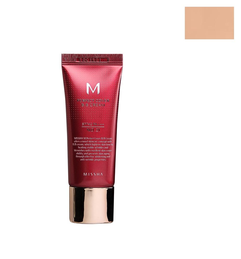 M Perfect Cover BB Cream SPF42/PA+++ wielofunkcyjny krem BB 21 Light Beige