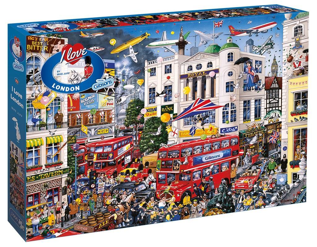 Puzzle 1000 el. Kocham Londyn