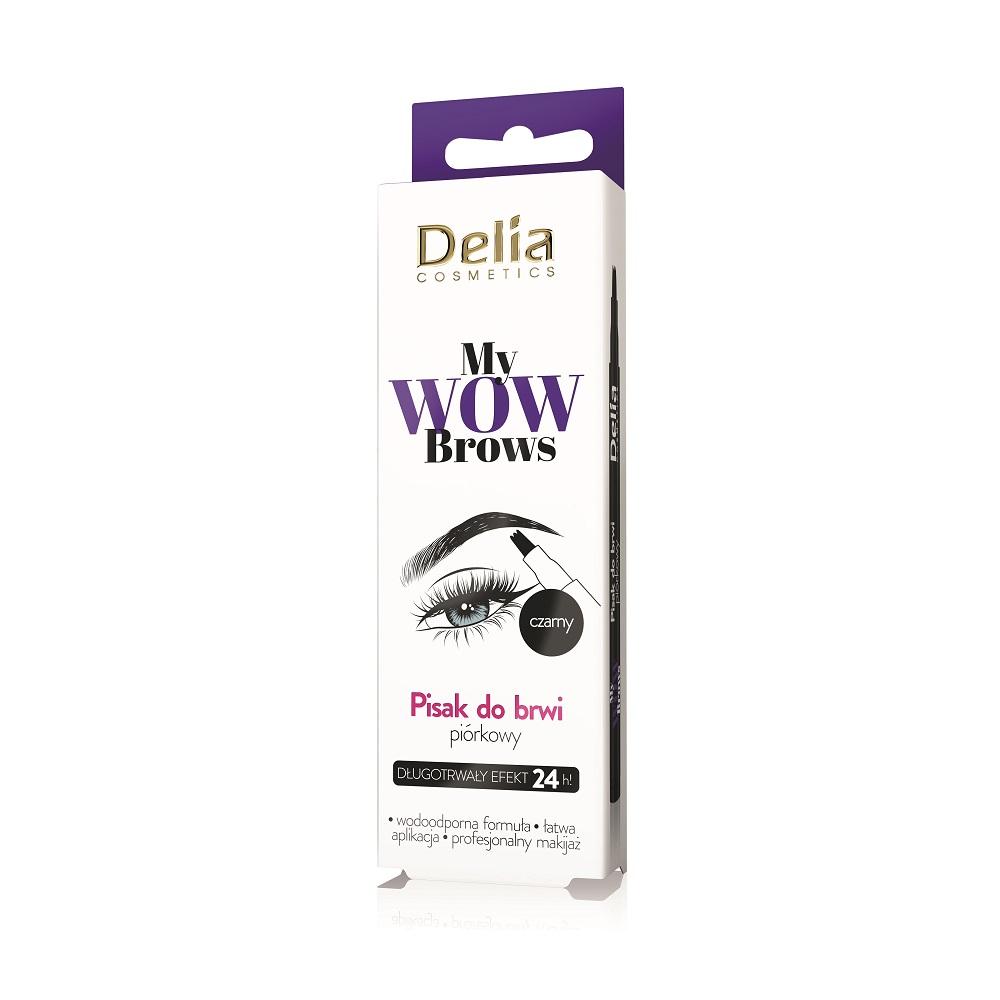 DELIA_My Wow Brows piórkowy pisak do brwi 1.0 Czerń
