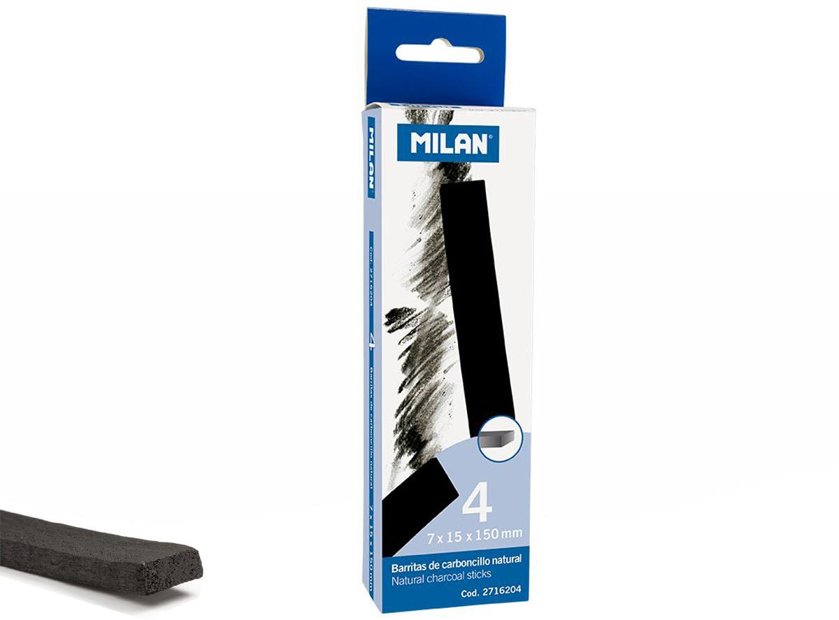 Węgiel rysunkowy Milan 15 - 7 mm 4 szt. w pudełku