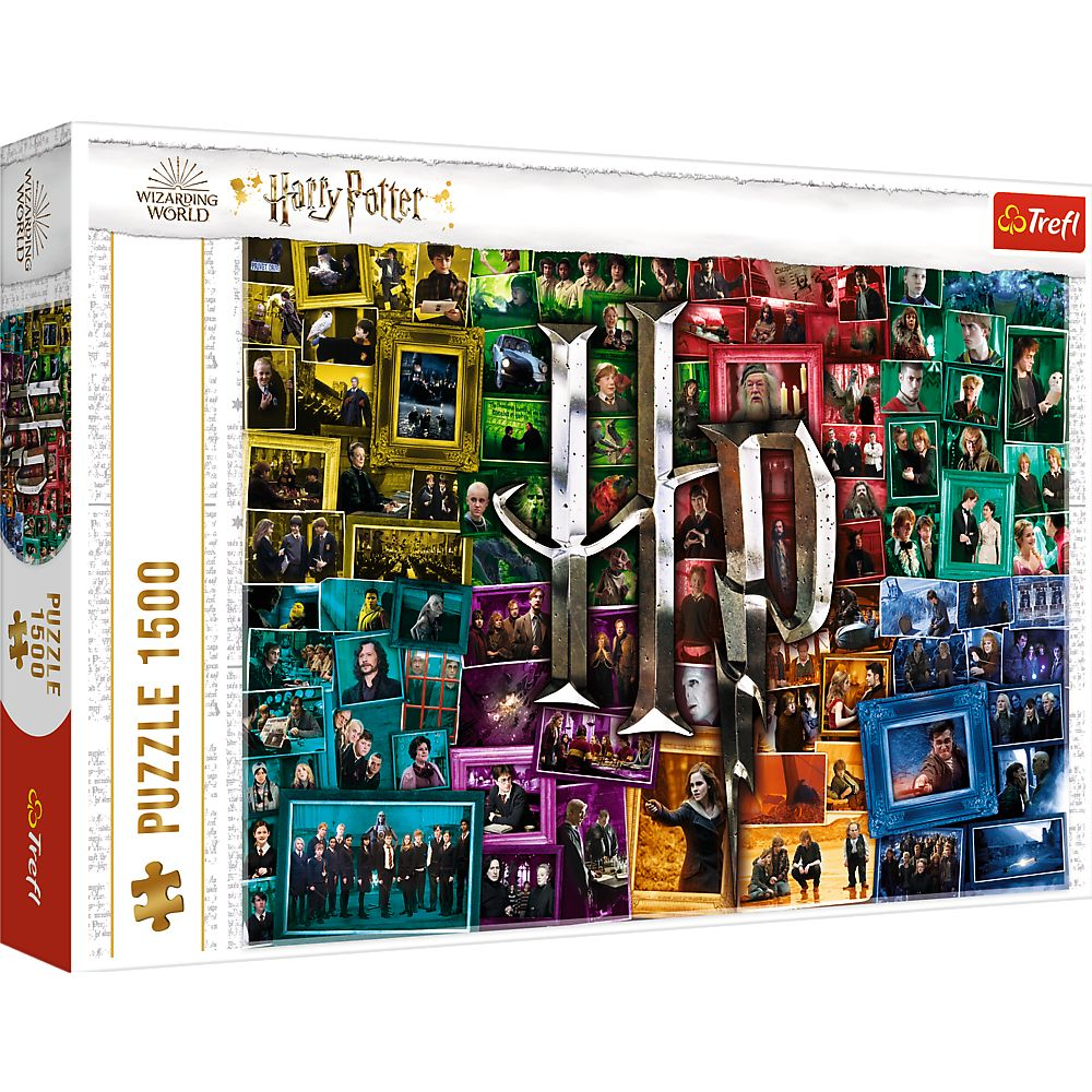 Puzzle 1500 el. Harry Potter: Na przestrzeni filmów