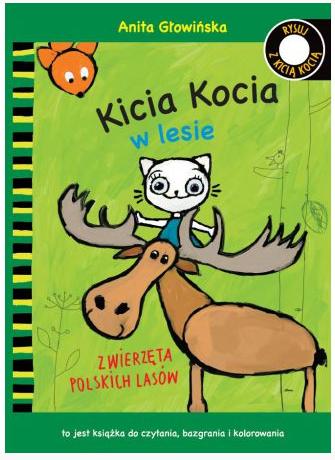 Kicia Kocia w lesie. Kolorowanka