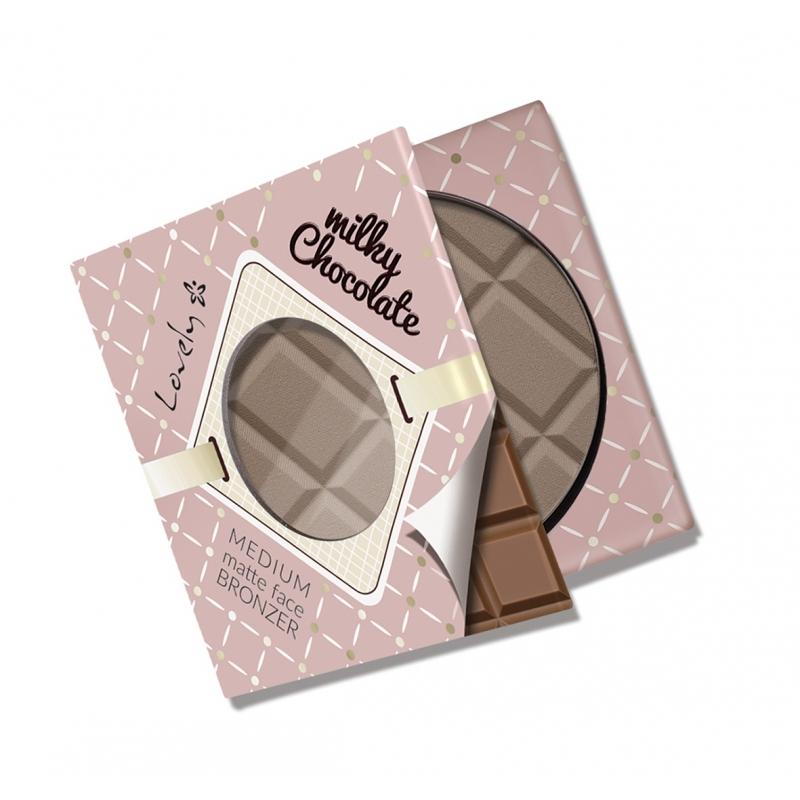 Milky Chocolate Medium Matte Face Bronzer czekoladowy matowy puder brązujący do twarzy i ciała