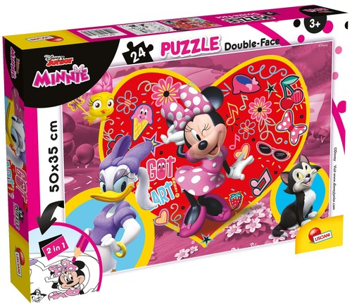 Puzzle dwustronne 24 el. Minnie