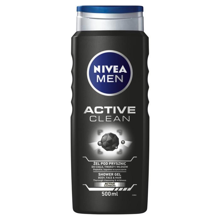 Men Active Clean żel pod prysznic do twarzy, ciała i włosów