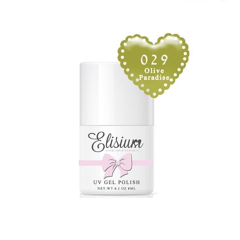 ELISIUM_UV Gel Polish lakier hybrydowy do paznokci 029 Olive Paradise