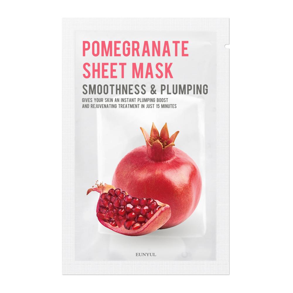 Ujędrniająco-wygładzająca maseczka do twarzy z granatem Sheet Mask Pomegranate