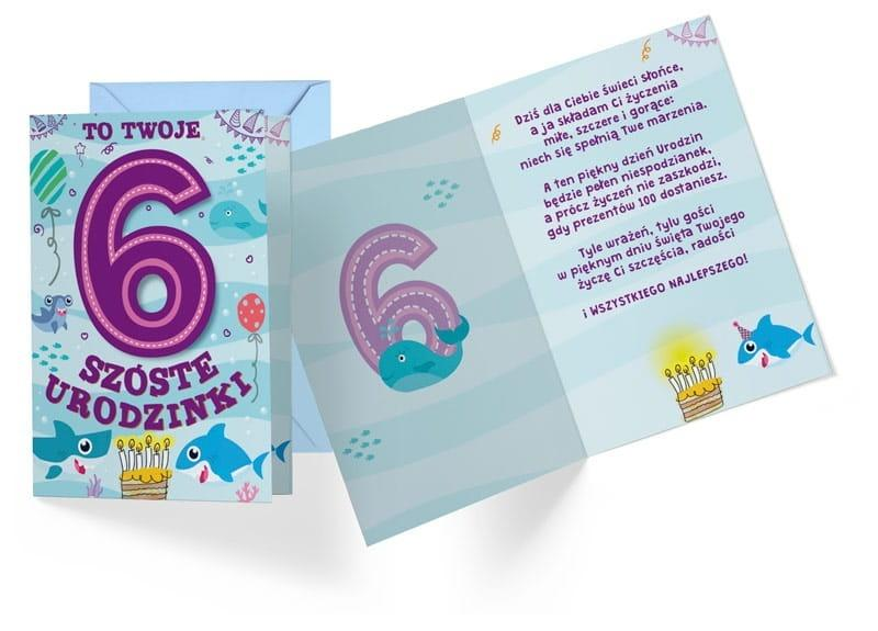 Karnet B6 PR-290 Urodziny 6