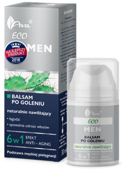 Eco Men Anti-aging Balsam po goleniu naturalnie nawilżający