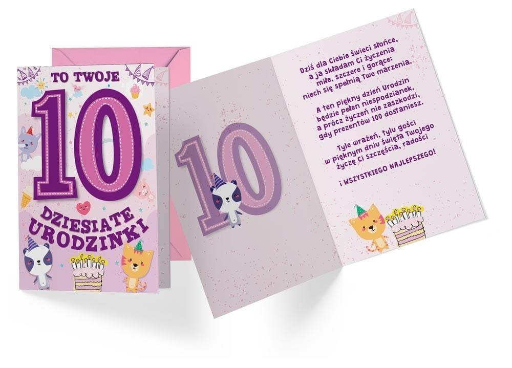 Karnet B6 PR-309 Urodziny 10