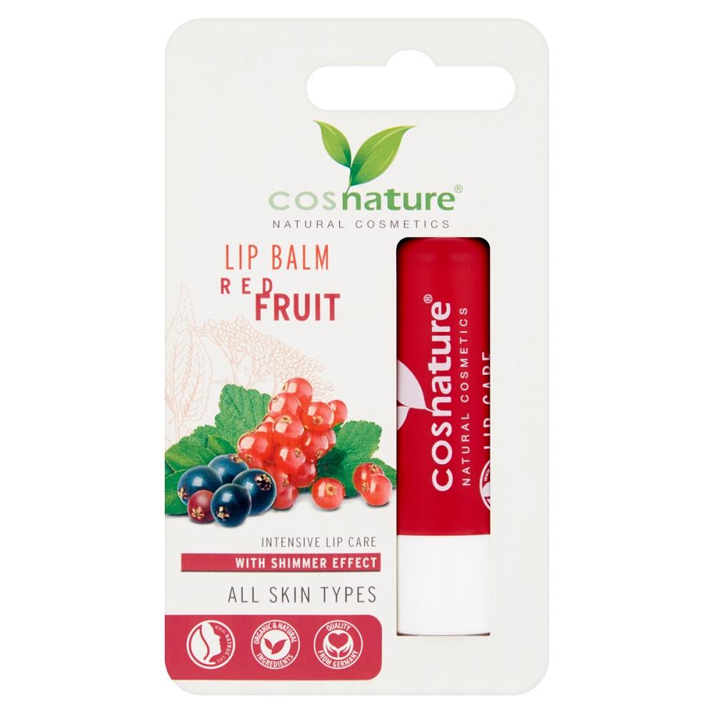 Naturalny ochronny balsam do ust z ekstraktem z czerwonych owoców
