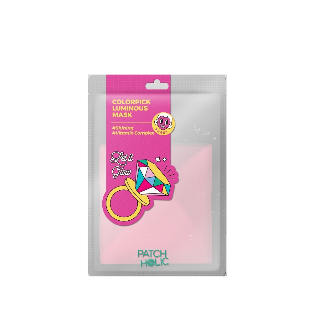 Colorpick różowa rozświetlająca maska w płachcie