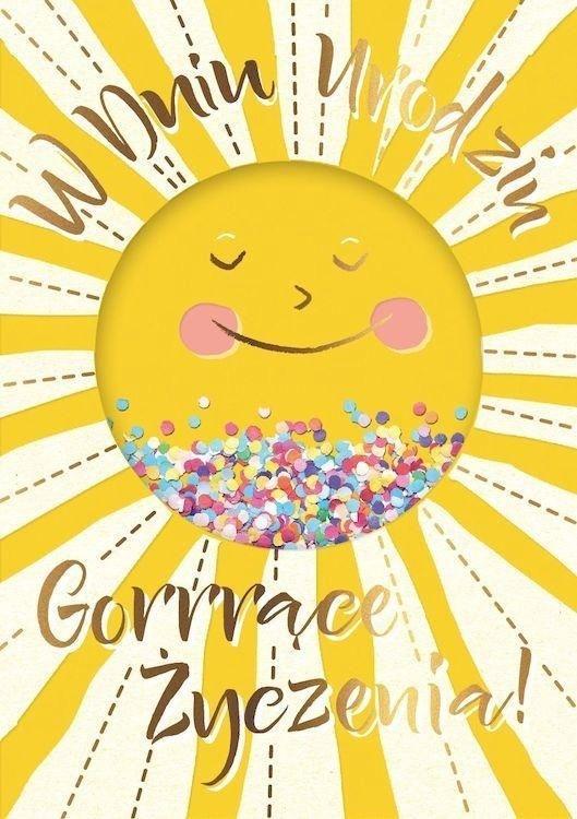 Karnet B6 konfetti KNF-031 Urodziny