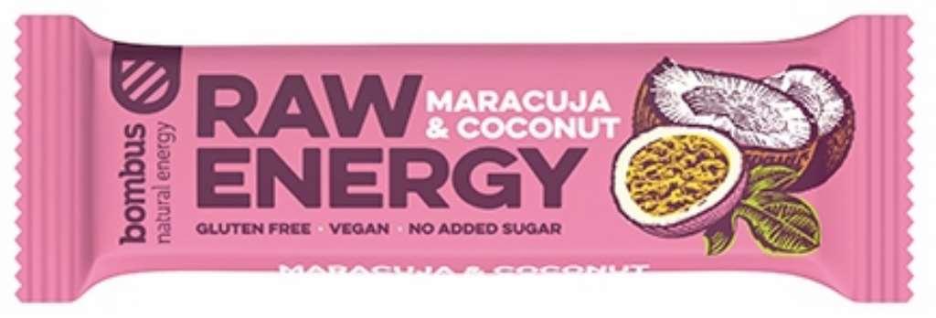 Baton Raw Energy marakuja-kokos bezglutenowy