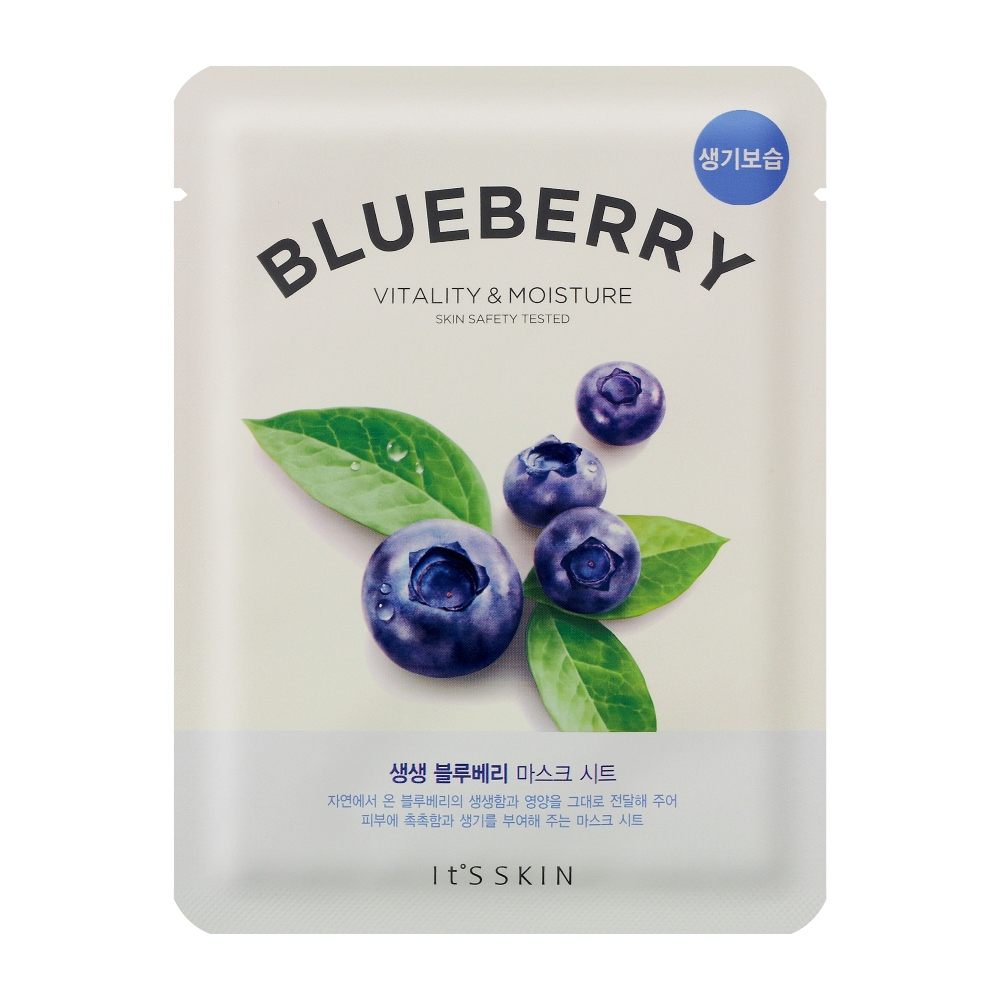 The Fresh Mask Sheet Blueberry maska do twarzy z wyciągiem z borówek