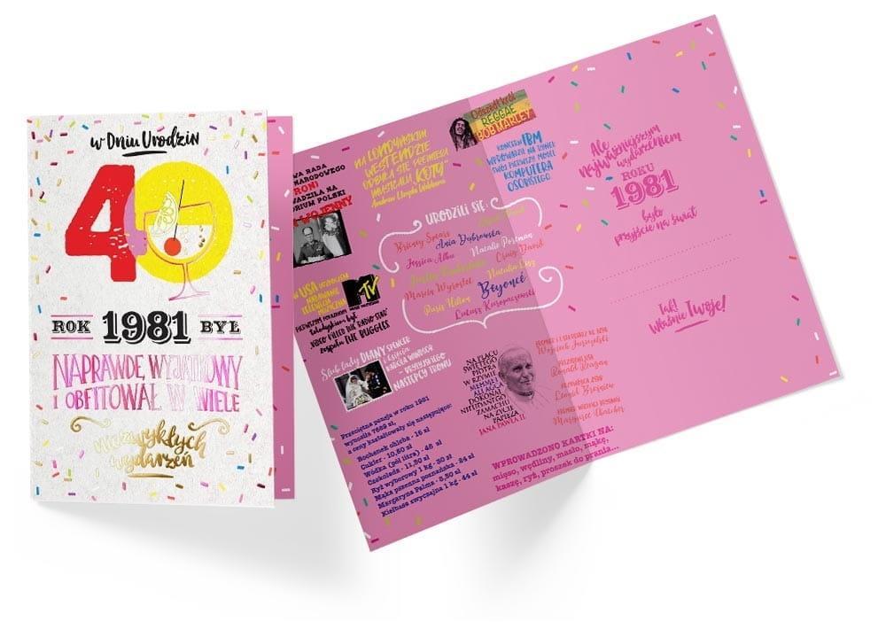 Karnet B6 PR-299 Urodziny 40 2021