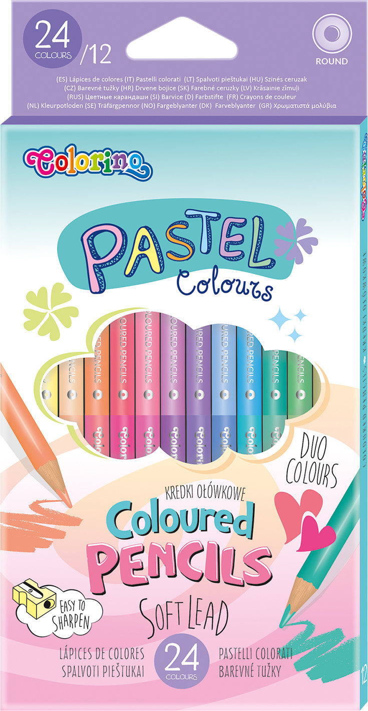 Kredki ołówkowe okrągłe Pastel Colorino