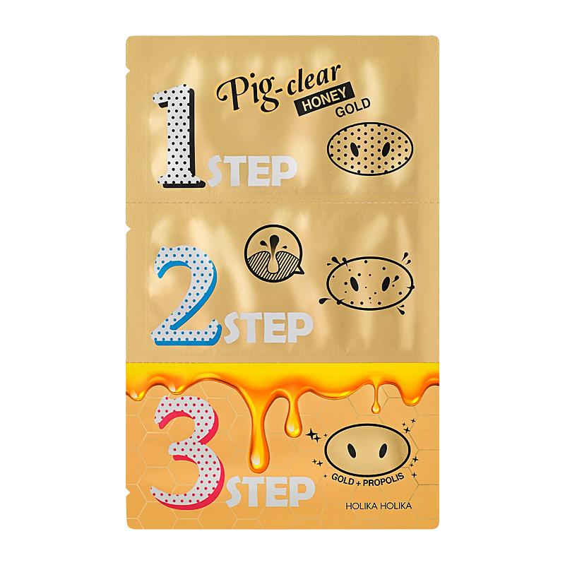 Pig-Clear Honey Gold zestaw plasterków oczyszczających z zaskórników