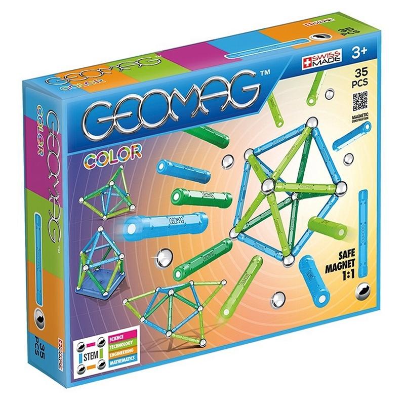 Geomag Color. Klocki magnetyczne. 35 elementów