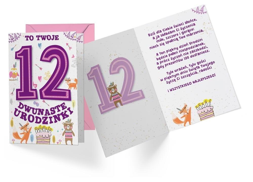 Karnet B6 PR-313 Urodziny 12