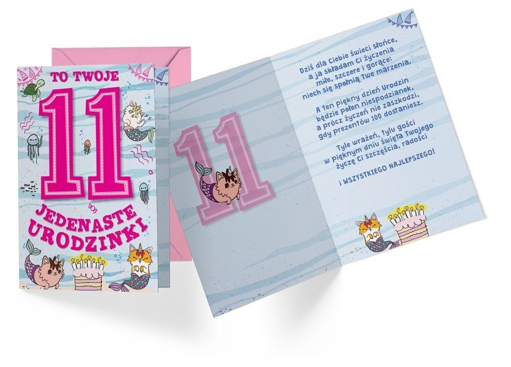 Karnet B6 PR-311 Urodziny 11