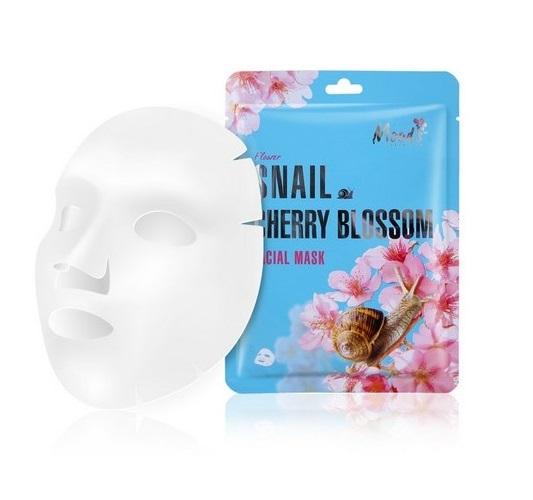 Maska w płachcie ze śluzem ślimaka i ekstraktem z kwiatów Snail Cherry Blossom