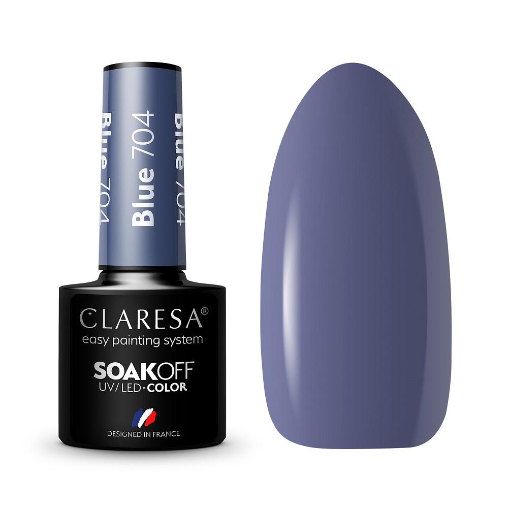 CLARESA_Soak Off UV/LED Blue lakier hybrydowy 704