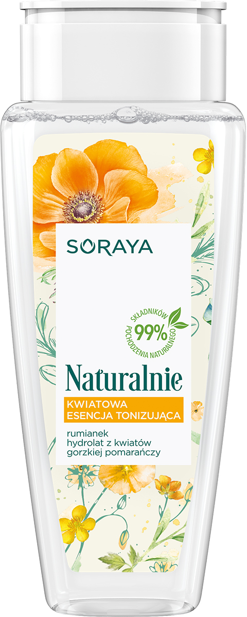 Naturalnie kwiatowa esencja tonizująca Rumianek & Kwiaty Pomarańczy