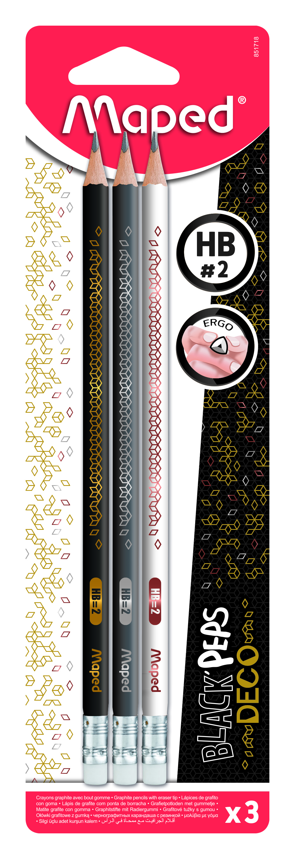 Ołówek z gumką Blackpeps Deco HB