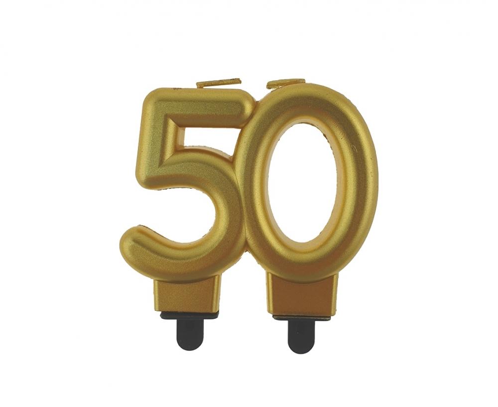Świeczki urodzinowe Cyferki 50