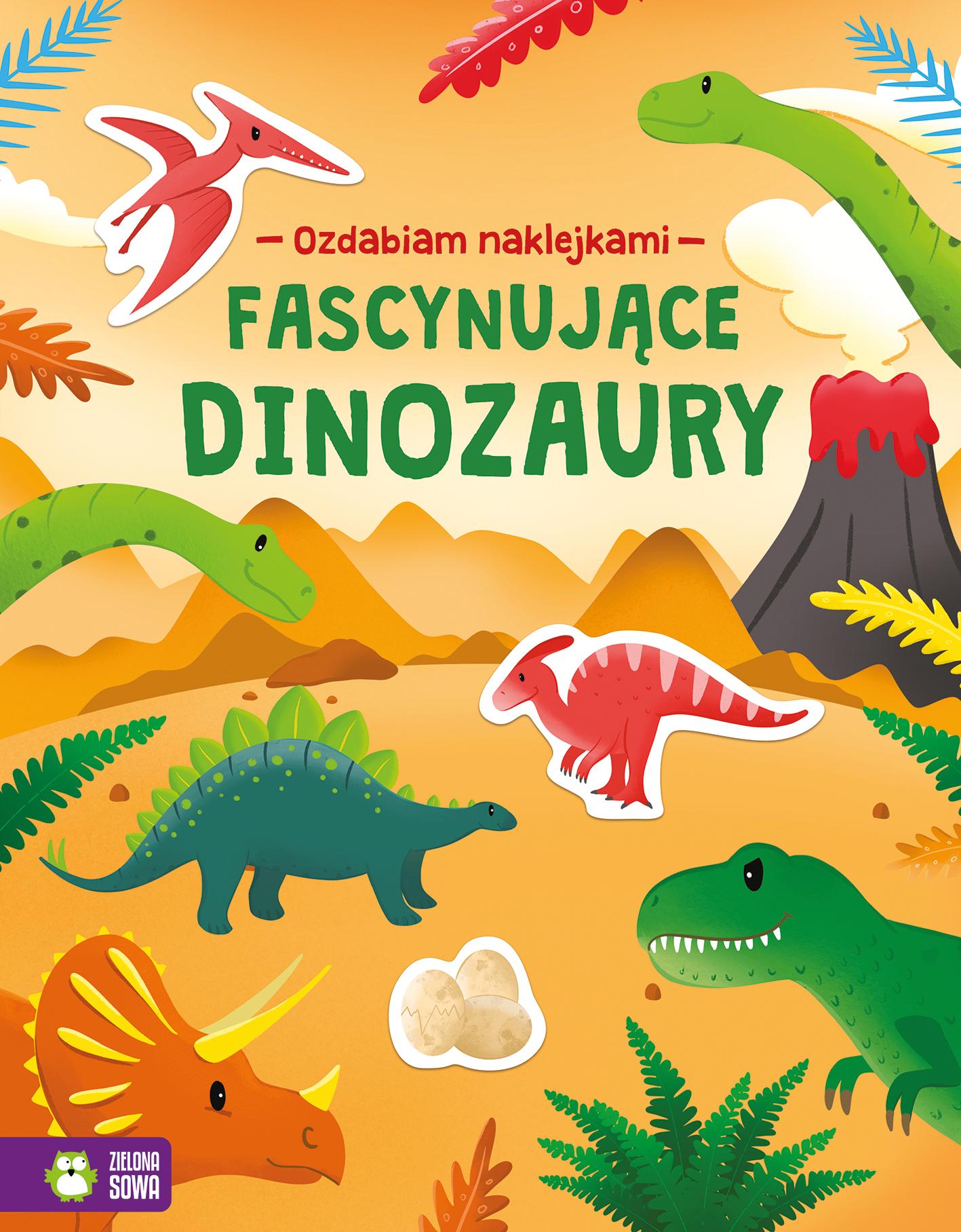 Fascynujące dinozaury. Ozdabiam naklejkami