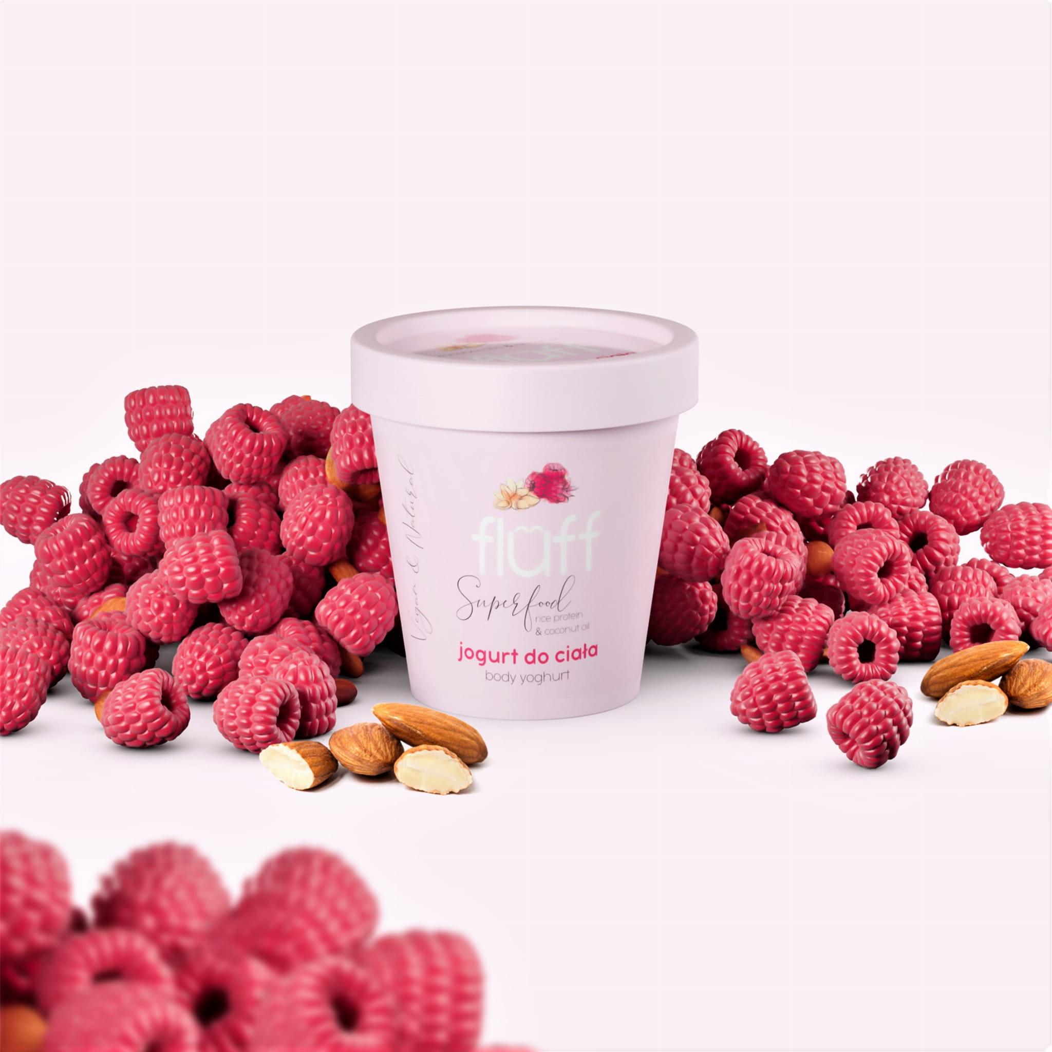 Balsam - jogurt do ciała - maliny z migdałami