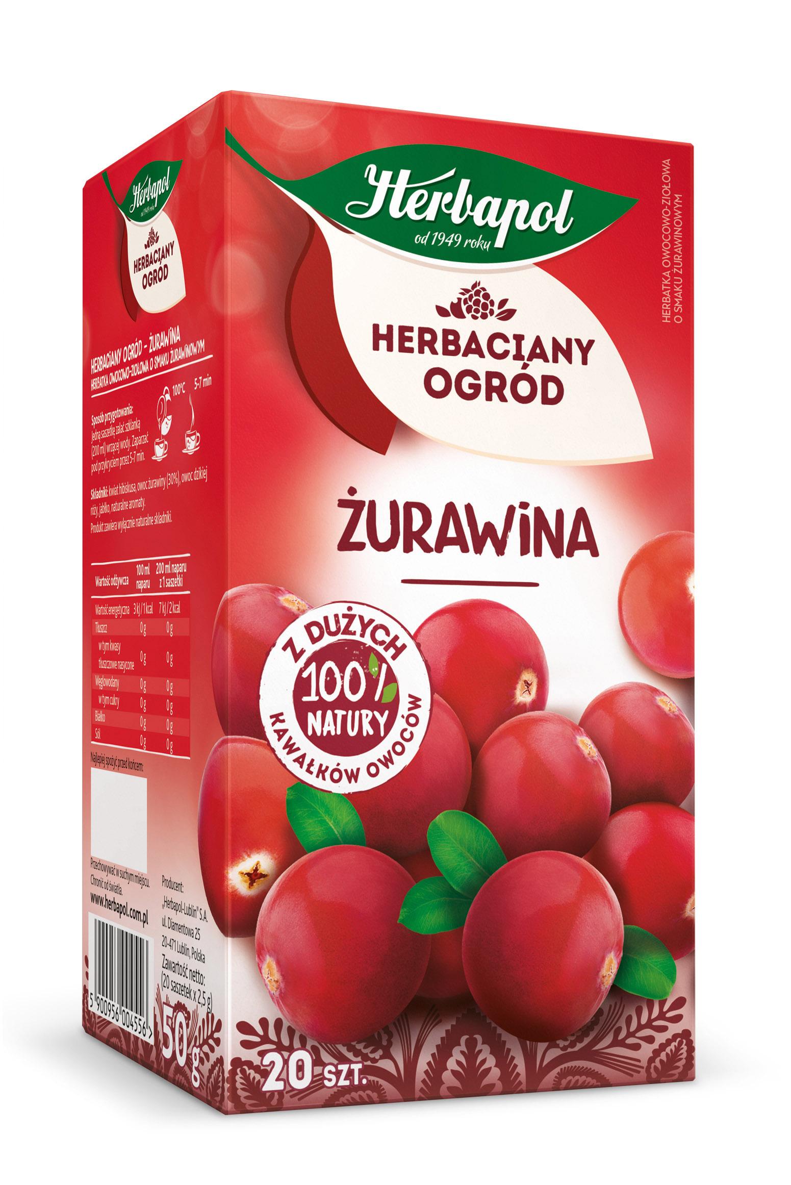 Herbatka owocowo-ziołowa Żurawina Herbaciany Ogród