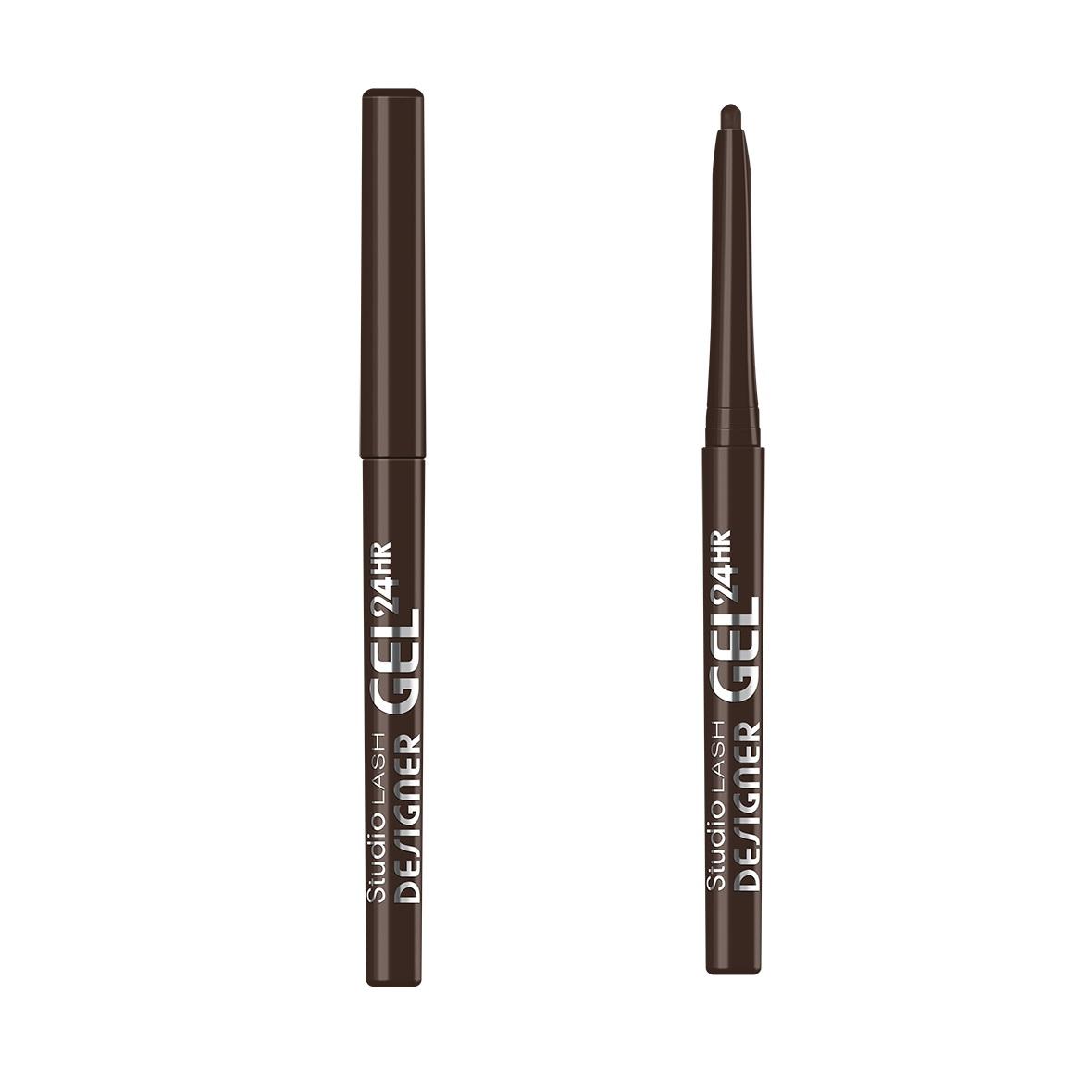 Studio Lash Designer Gel Long Lasting Gel Eye Liner żelowy eyeliner do powiek 003 Brown Designer