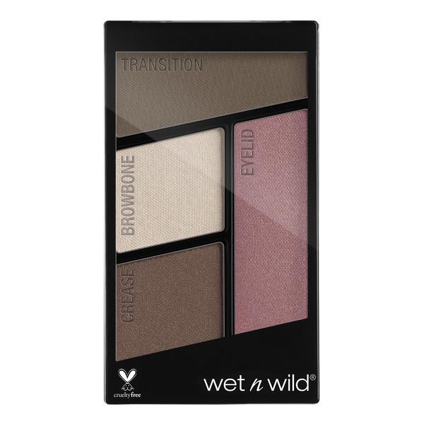 WET N WILD_Color Icon Eyeshadow Quad paletka 4 cieni do powiek Walking On Eggshells