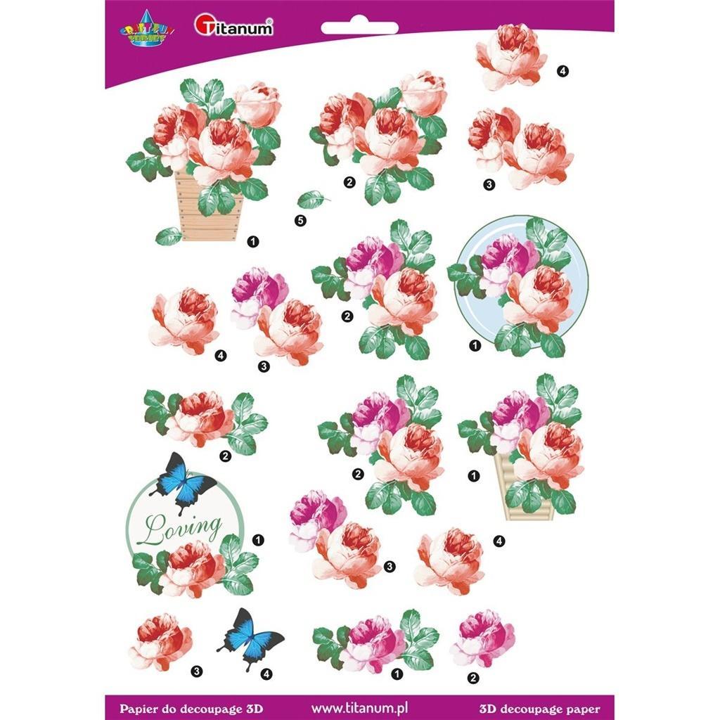 Papier do decoupage 3D Róże
