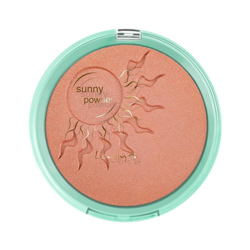Sunny Powder słoneczny puder do twarzy i ciała z drobinkami złota